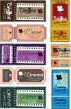 Cinema ticket set Royalty Free Stock Photos