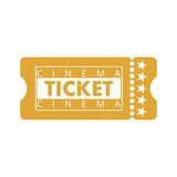Cinema Ticket Royalty Free Stock Photos