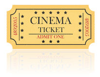 Cinema ticket vector illustration Royalty Free Stock Image