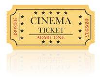 Cinema ticket vector illustration. On white background Royalty Free Stock Image