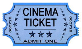 Cinema ticket on white stock photo