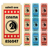 Cinema tickets. Illustration for the web Stock Photography