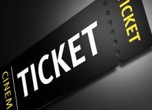 Cinema Tickets. 3D render of cinema tickets Royalty Free Stock Photos