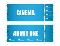 Cinema tickets. Admit one ticket cinema tickets Royalty Free Stock Images