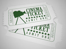 Cinema tickets. 3d high quality render Royalty Free Stock Image