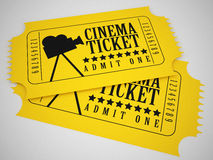Cinema tickets. 3d high quality render Royalty Free Stock Photos