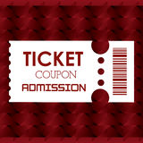 Cinema tickets design Royalty Free Stock Photo