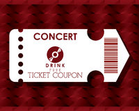 Cinema tickets design Stock Photography