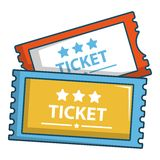Cinema tickets icon, cartoon style. Cinema tickets icon. Cartoon illustration of cinema tickets vector icon for web Royalty Free Stock Photos