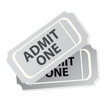 Cinema Tickets Isolated Stock Photography