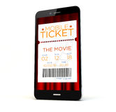 Cinema tickets phone Stock Photos