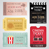 Cinema Tickets Set Stock Images
