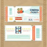 Cinema Tickets Set Stock Photo