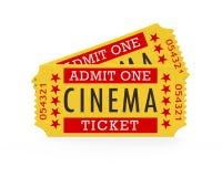 Cinema Tickets. On white background. 3D render Stock Photos