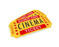 Cinema Tickets. On white background. 3D render Stock Photography