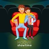 Cinema Time Illustration Royalty Free Stock Photos