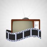 Cinema tv vintage strip film Stock Images
