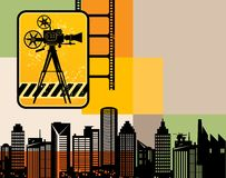 Cinema urban background Stock Photography