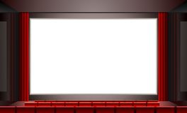 Cinema. Vector. Vector.Cinema blank screen to put whatever there Royalty Free Stock Images