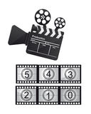 Cinema vector. Cinema with film countdown isolated over white background Royalty Free Stock Photos