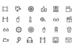 Cinema Vector Line Icons 3. If you're looking to add some adrenaline to your designs, this cinema icons set is sure to do the trick. Perfect for your cinema Stock Photography