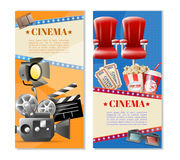 Cinema 2 Vertical Banners Set Royalty Free Stock Images