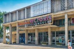 Cinema Victoria em Iasi, Romênia fotos de stock royalty free