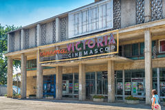 Cinema Victoria in Iasi, Romania. Old Cinema Victoria in Iasi, Romania, the post-comunist cinema building that still resists and is open nowadays offering old royalty free stock photos