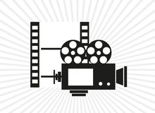 Cinema video camera background Royalty Free Stock Photo