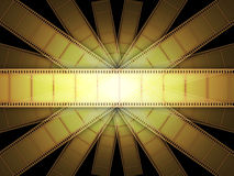 Cinema Video Film. 3D with light effect Stock Photos