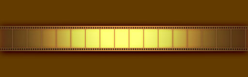 Cinema Video Film. 3D with light effect Stock Photo