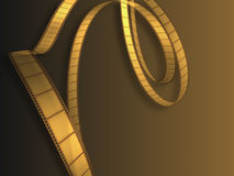 Cinema Video Film. 3D with light effect Royalty Free Stock Photography