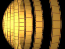 Cinema Video Film. 3D with light effect Stock Images
