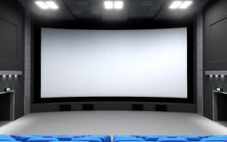 Cinema, view front Royalty Free Stock Images