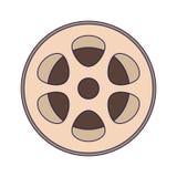 Cinema vintage reel. Isolated vector illustration graphic design vector illustration