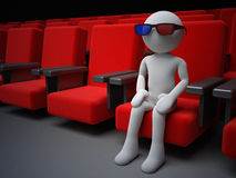 Cinema visitor. 3d high quality render Royalty Free Stock Photo