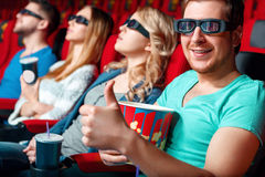 Cinema visitor showing class Royalty Free Stock Photography