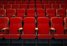 Cinema vuoto con i sedili rossi Fotografia Stock