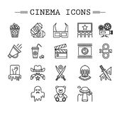 Cinema web silhouettes collection vectir Royalty Free Stock Images