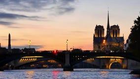 Cinemagraph在巴黎 早晨 股票视频