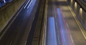 Cinemagraph сцены ночи городского движения Промежуток времени - влияние следа - долгая выдержка - 4K (04) акции видеоматериалы