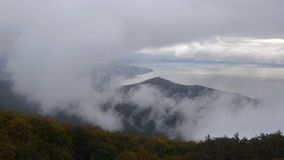Cinemagraph -在雾盖的海的看法 影视素材