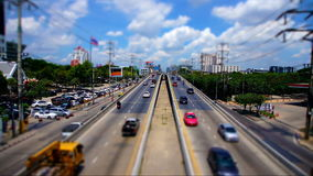 Cinemagraph of Bangkok Highway Top View Day stock video
