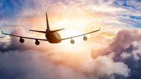 Cinemagraph Continuous Loop Animation of Airplane Flying