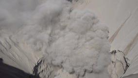 Cinemagraph de Gunung Bromo Volcano Crater no parque nacional de Bromo Tengger Semeru, East Java, Indonésia video estoque