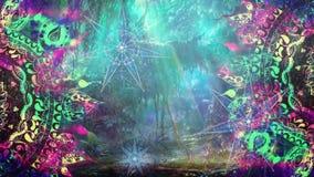 Cinemagraph del fondo de la estrella del faerie del bosque del hippie