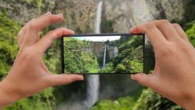 Cinemagraph di presa della foto della cascata di Sipiso-Piso nella Sumatra Settentrionale stock footage