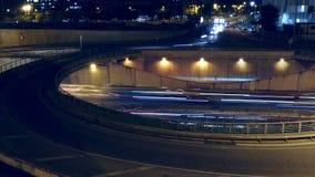 Cinemagraph do carrossel acima da estrada Lapso de tempo vídeos de arquivo
