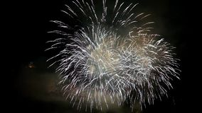 Cinemagraph effect on fireworks in Italy. With church in the background stock video footage