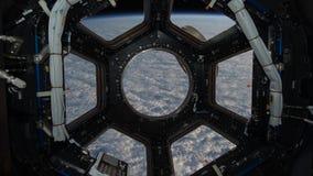 Cinemagraph för NASA 4K samling - ISS-fönster arkivfilmer
